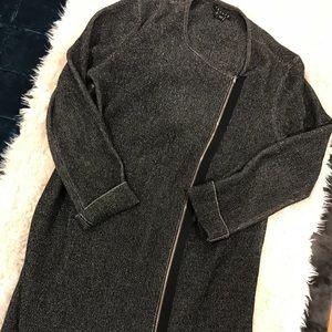 Theory size small dark grey zipper sweater